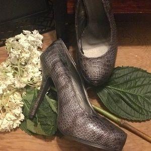 Faux Croc Heels